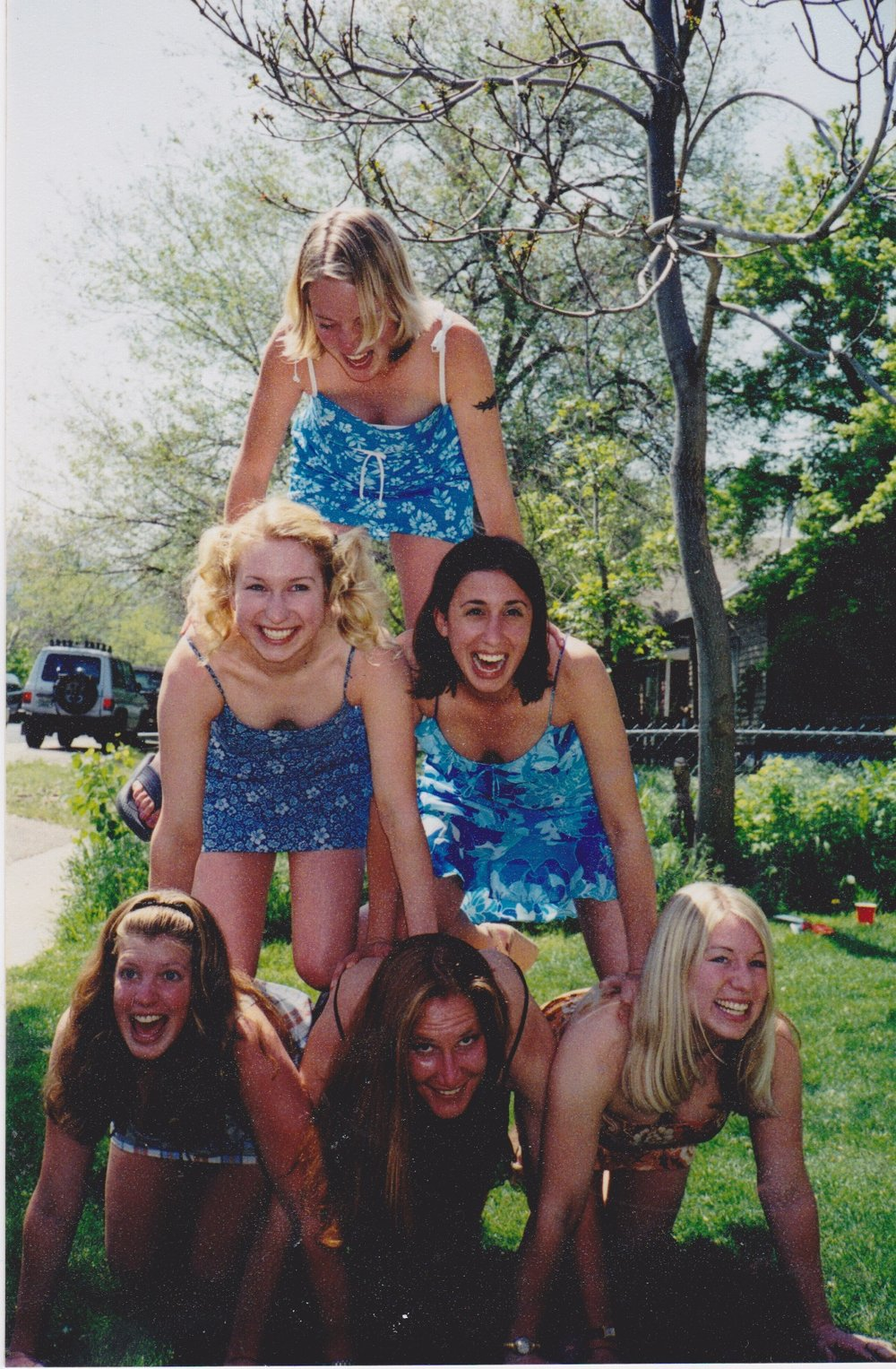 My roommates and best friends from college: Starting bottom screen left and up: Hillary Jackson, Chanda Grizzel, Susie Wood, Sarah Gonzalez, Annie Fabik, and yours truly.