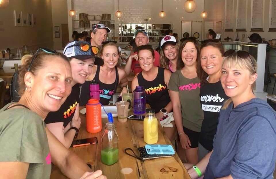 Team SFQ Meet-Up organized by Boulder local, and fellow Kona qualifier, Sarah Peltier. Photo credit goes to Amy Hite.