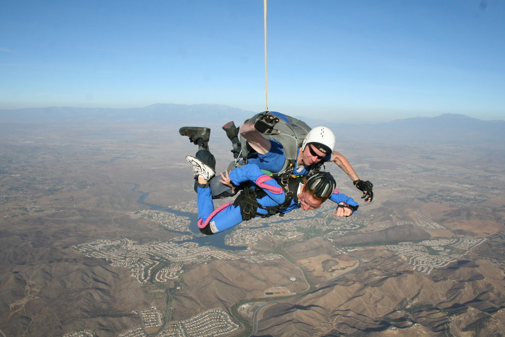 Pulling my own parachute, literally  and  figuratively.