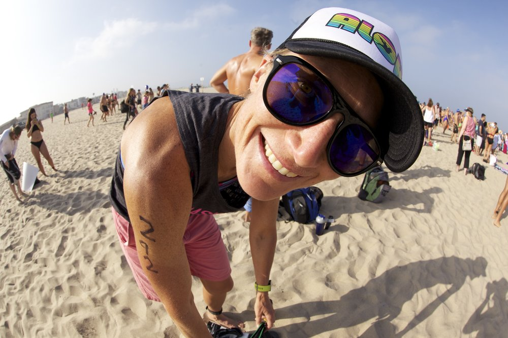 Fish-Eye lens fun before jumping into the Pacific.