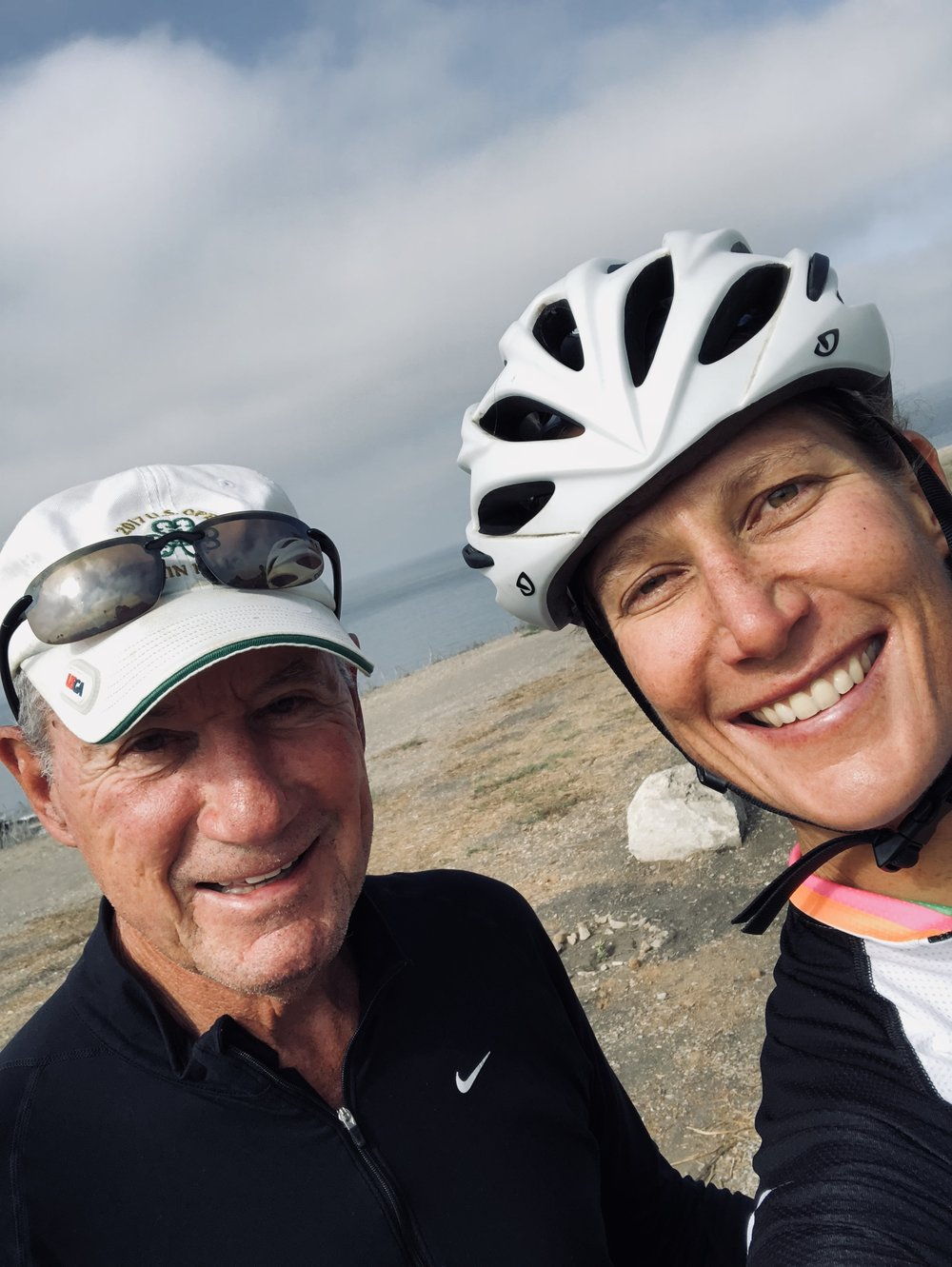 A surprise mid-ride rendezvous with my my dad.