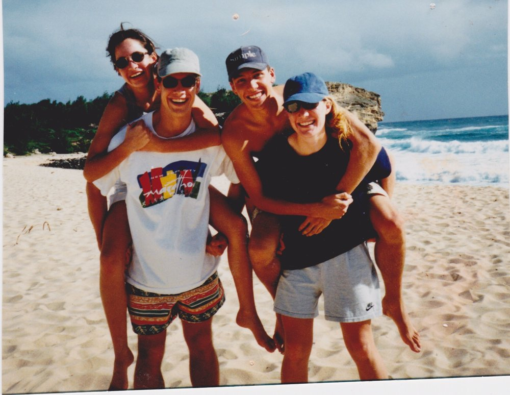 The four Kelly kids, Tim, Mary, Peter, and their little sister. Kauai, Hi, 1995.