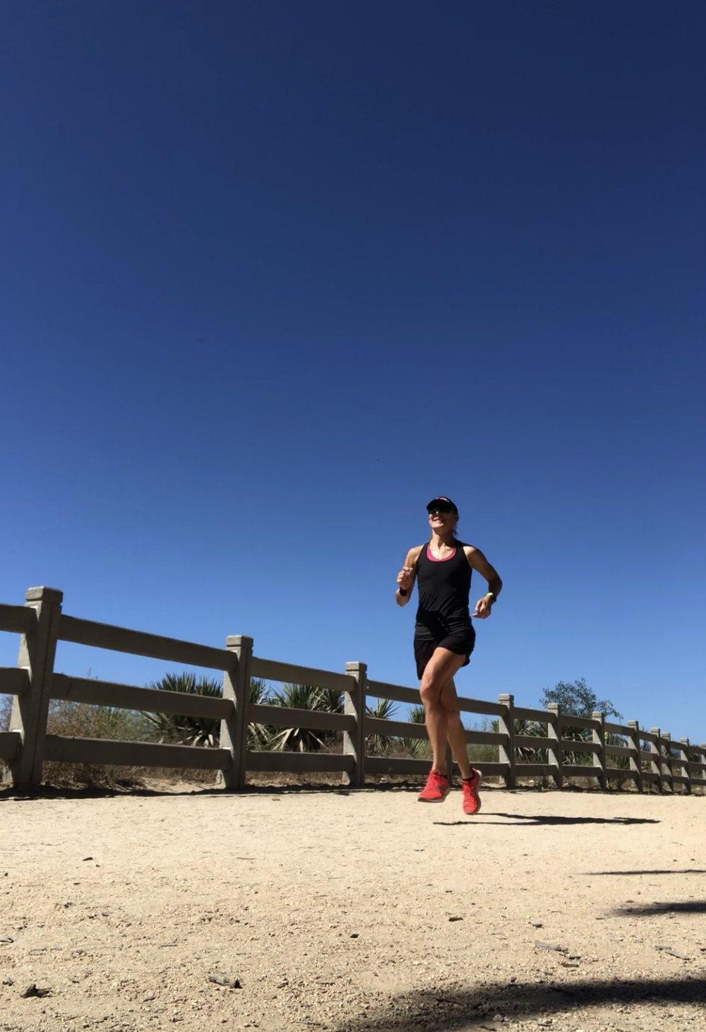 Post Sunday long run jaunt in Santa Monica.