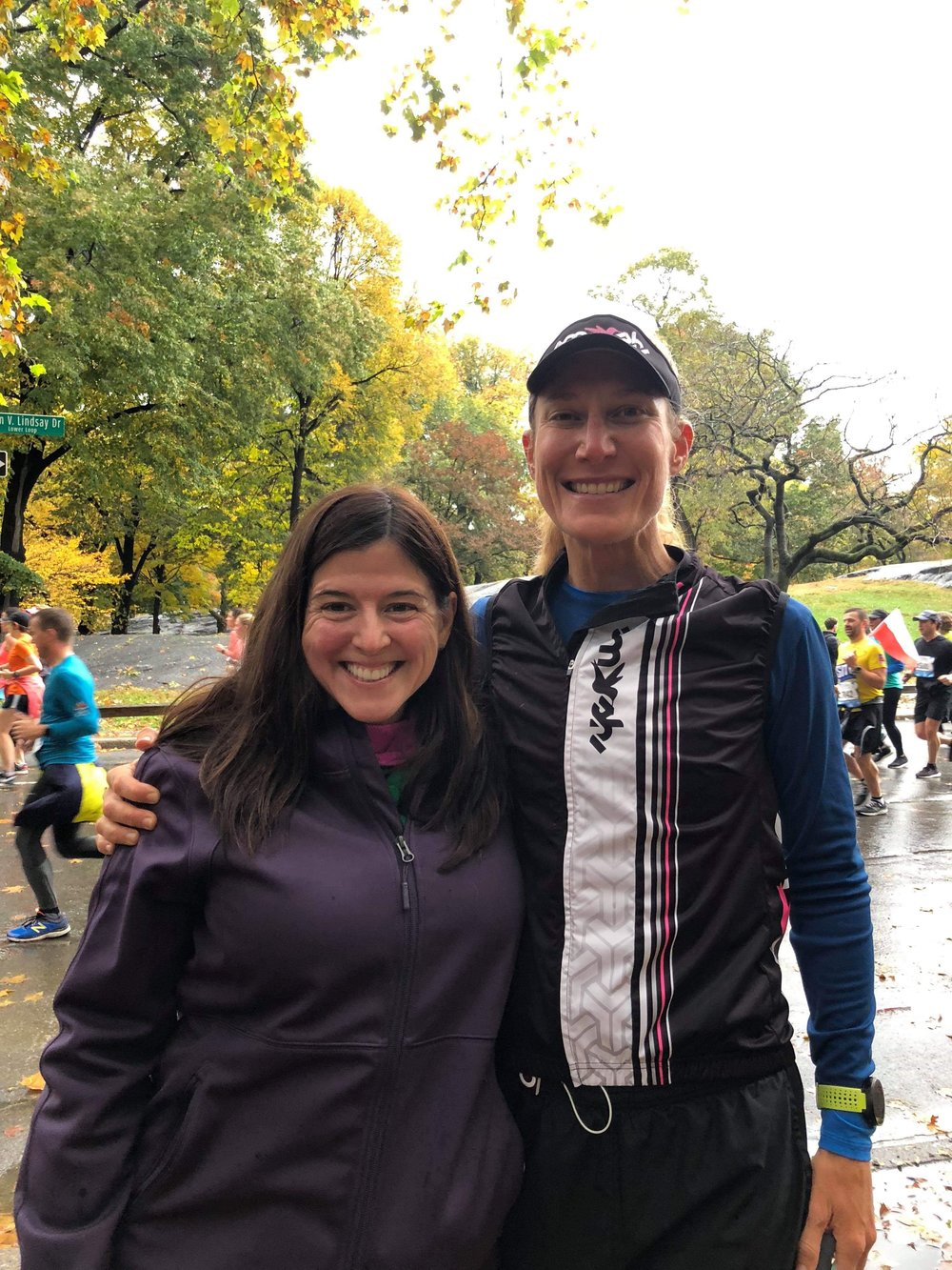 My friend and teammate Sherri Zehner and I in Central Park.