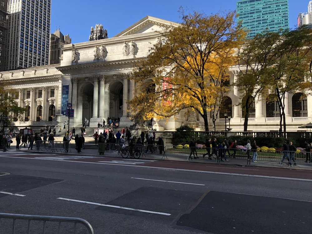 The New York Public library.
