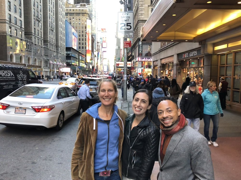 Yours truly with the hippest couple in New York, Sarah and Gerard.