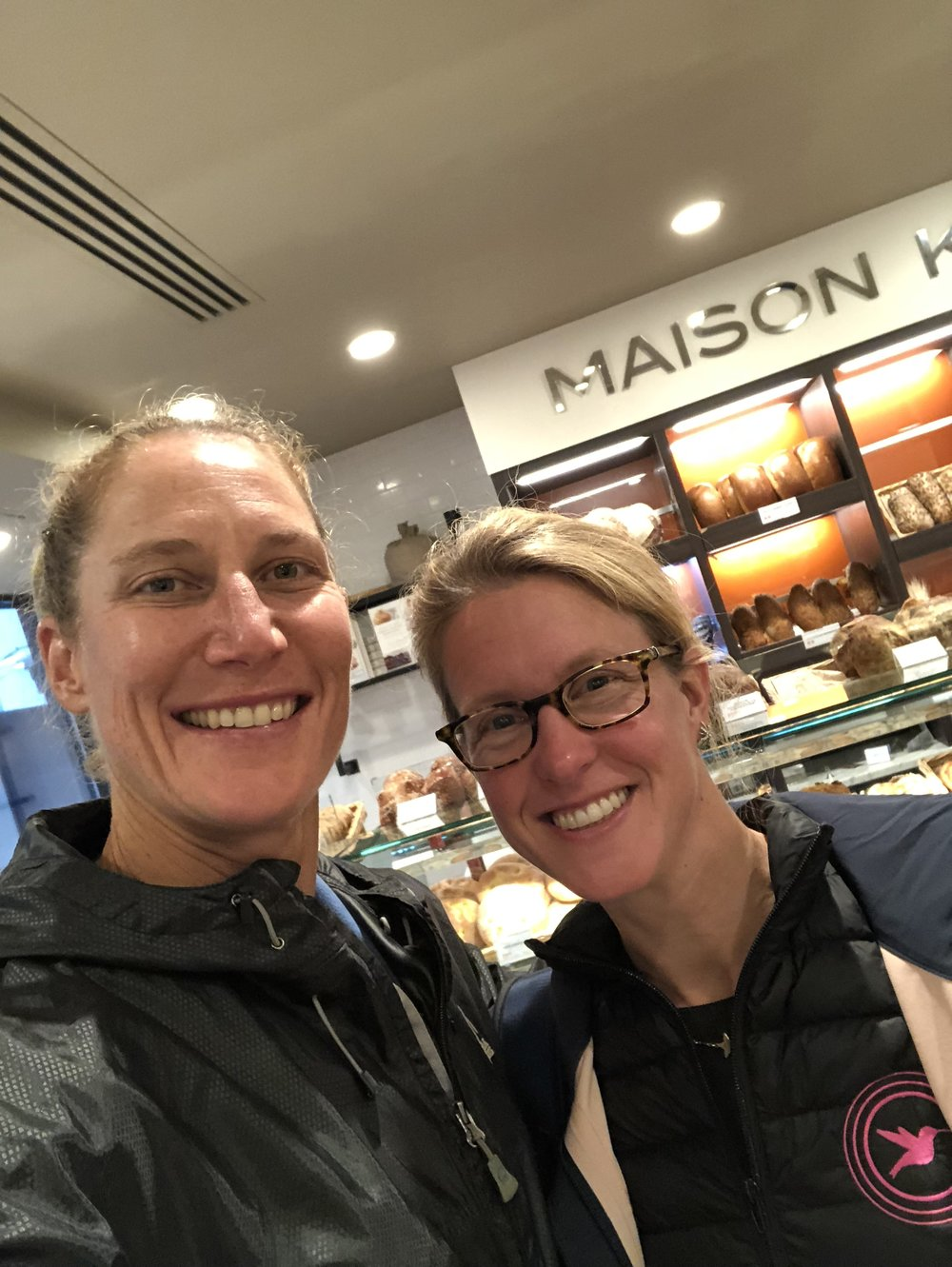 Monday morning breakfast date with my friend and teammate, Libby.