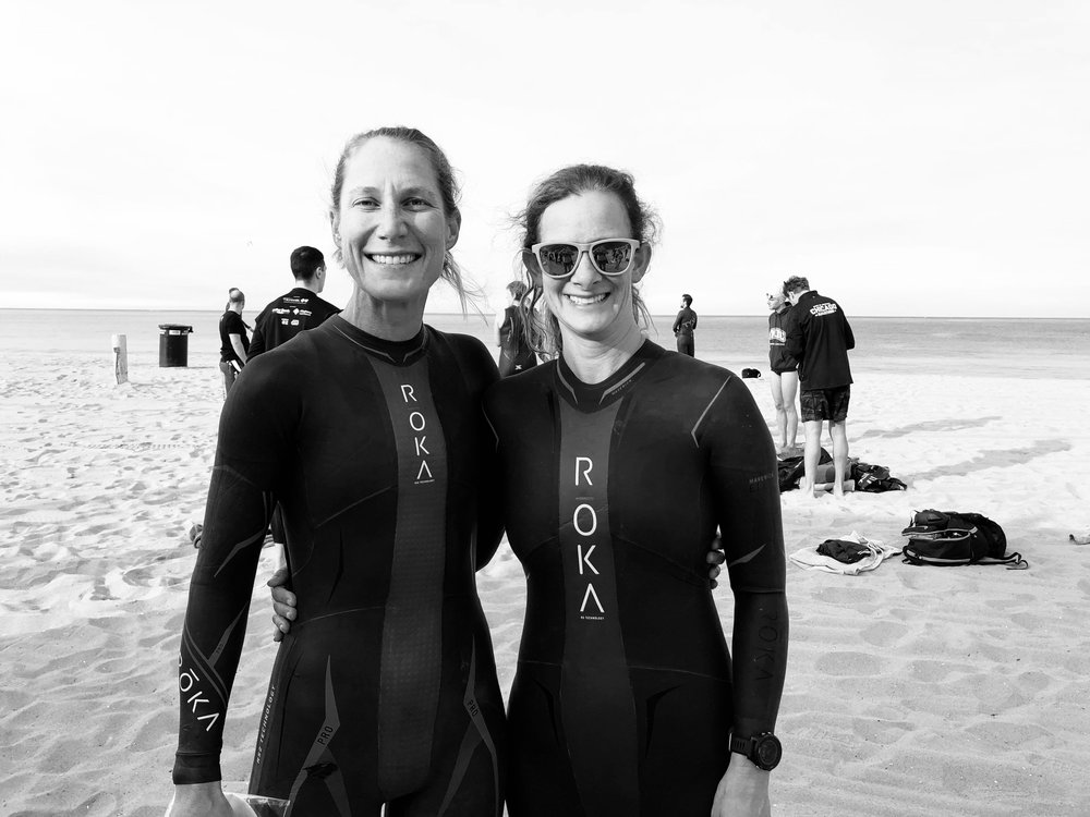 The highlight of last week, swimming in the ocean with SMOG alongside my friend and teammate, Bridget Haga. Photo courtesy of Bridget.