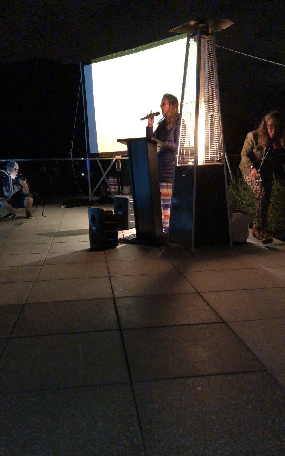 Meredith Kessler inspiring us all on Friday night.