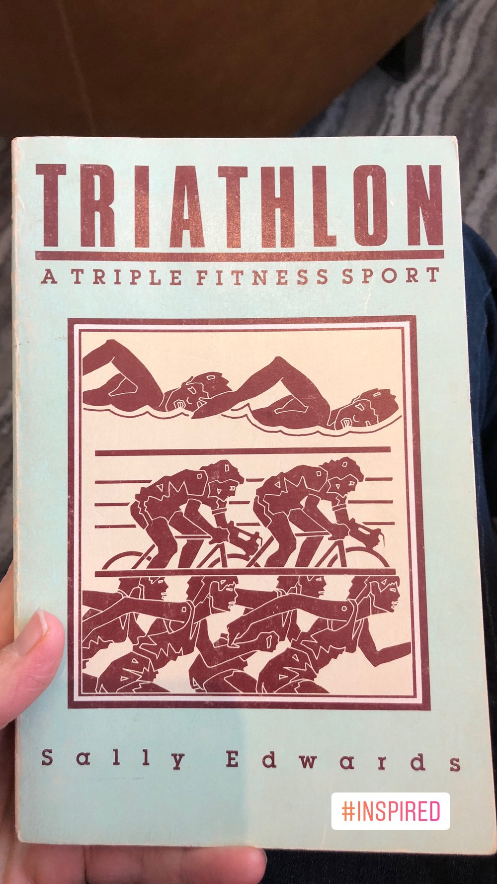 Sally Edwards's self-published first book on Women in triathlon.