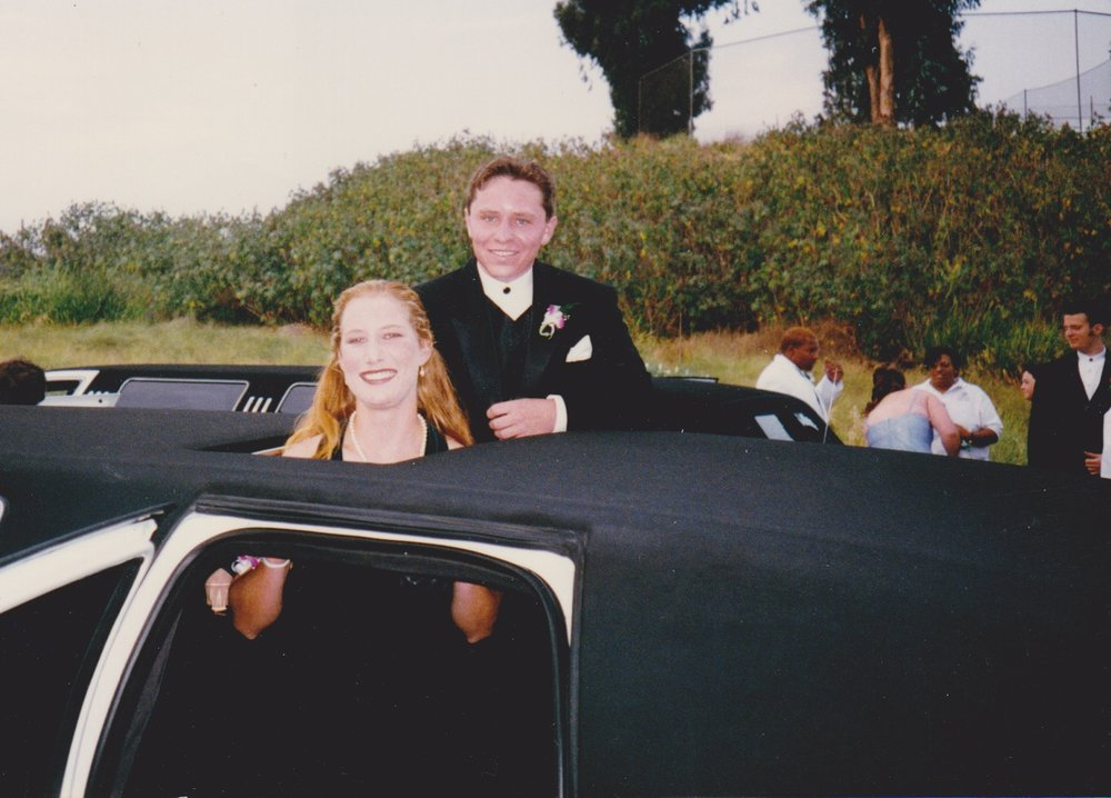 Yours truly with my wonderful date, Andy Newman, Prom night, 1997.