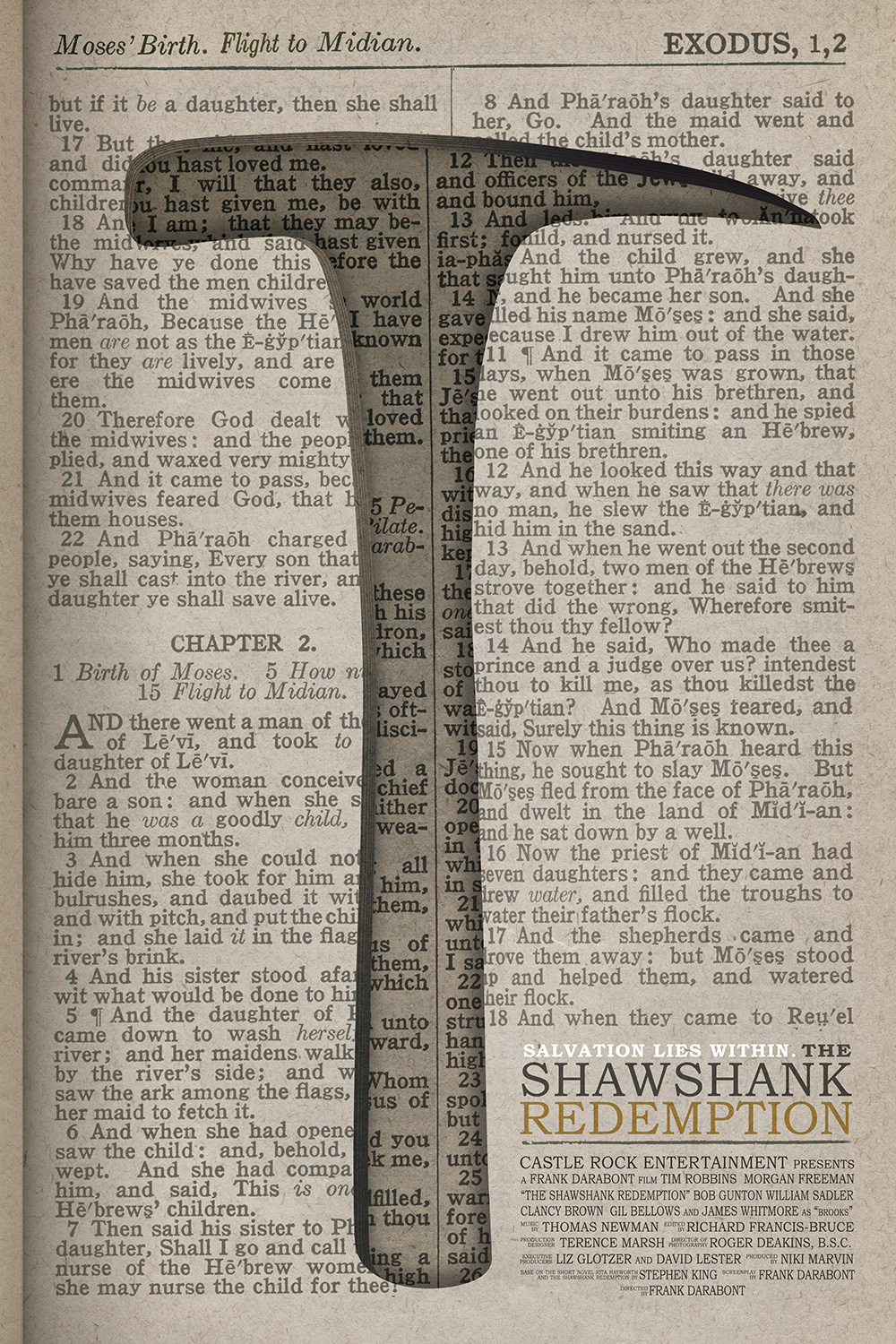 Andy Dufresne's Bible that he hid his rock hammer in from the fantastic film, Shawshank Redemption.