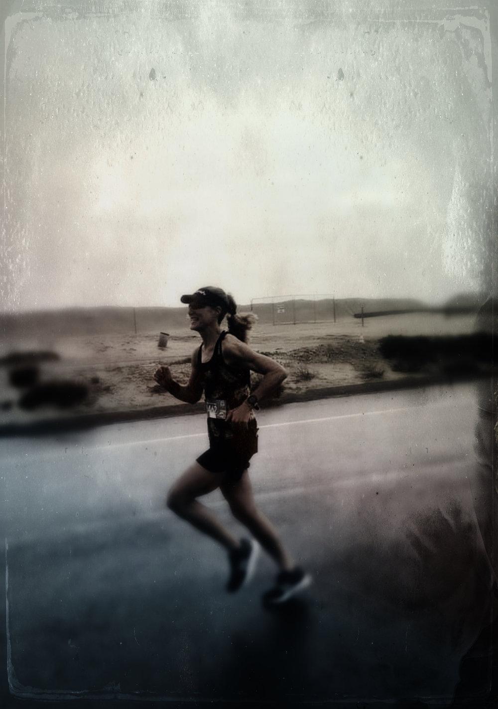 Mile 9ish, Surf City Half marathon. Photo credit: Michele Landry