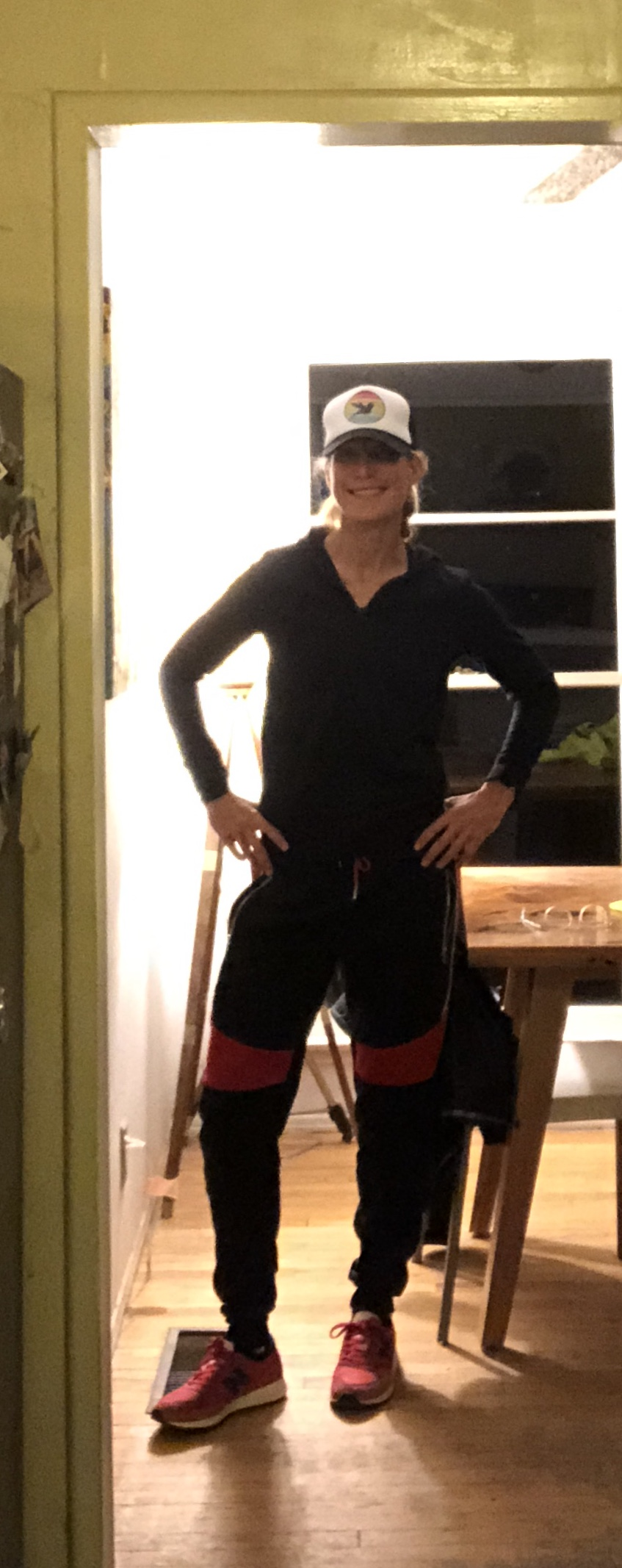 Rainy Pre-Race Outfit which I ended up keeping, because they had a gear-check.:)