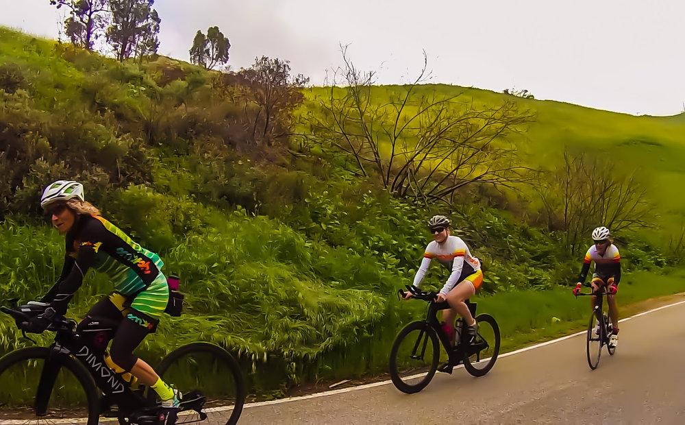 Riding up Latigo. Photo courtesy of Greg Stannard.