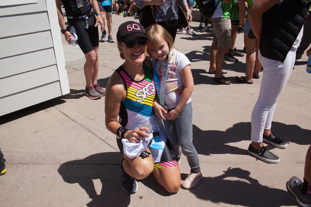 The highlight of the day was having my niece Darby cheering me on. #NextGeneration.