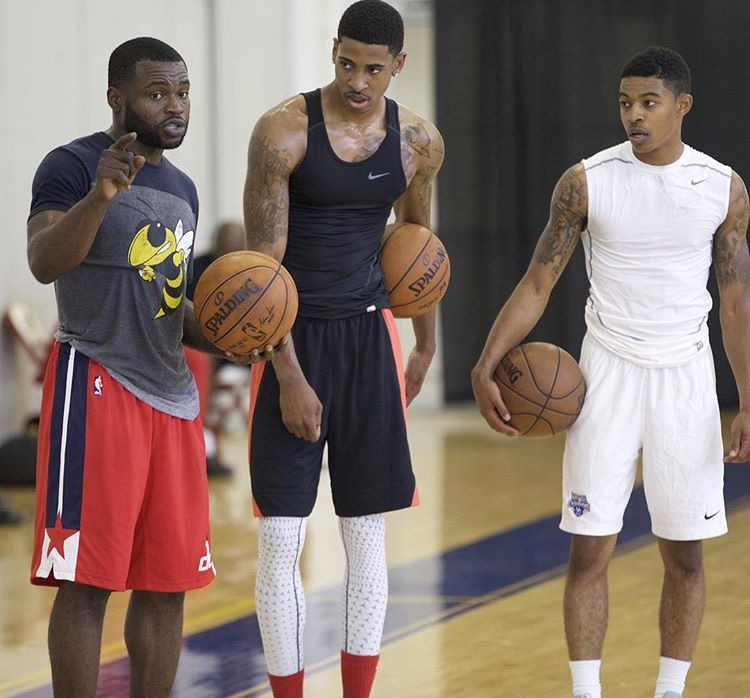 GZT clients Will Bynum, Charles Matthews, and Tyler Ulis during a recent off-season workout