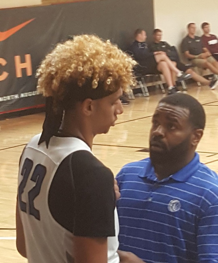 GZT CEO coaching Brian Bowen during Nike EYBL play