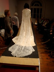 Antique Wedding Dress with Limerick Tambour Train
