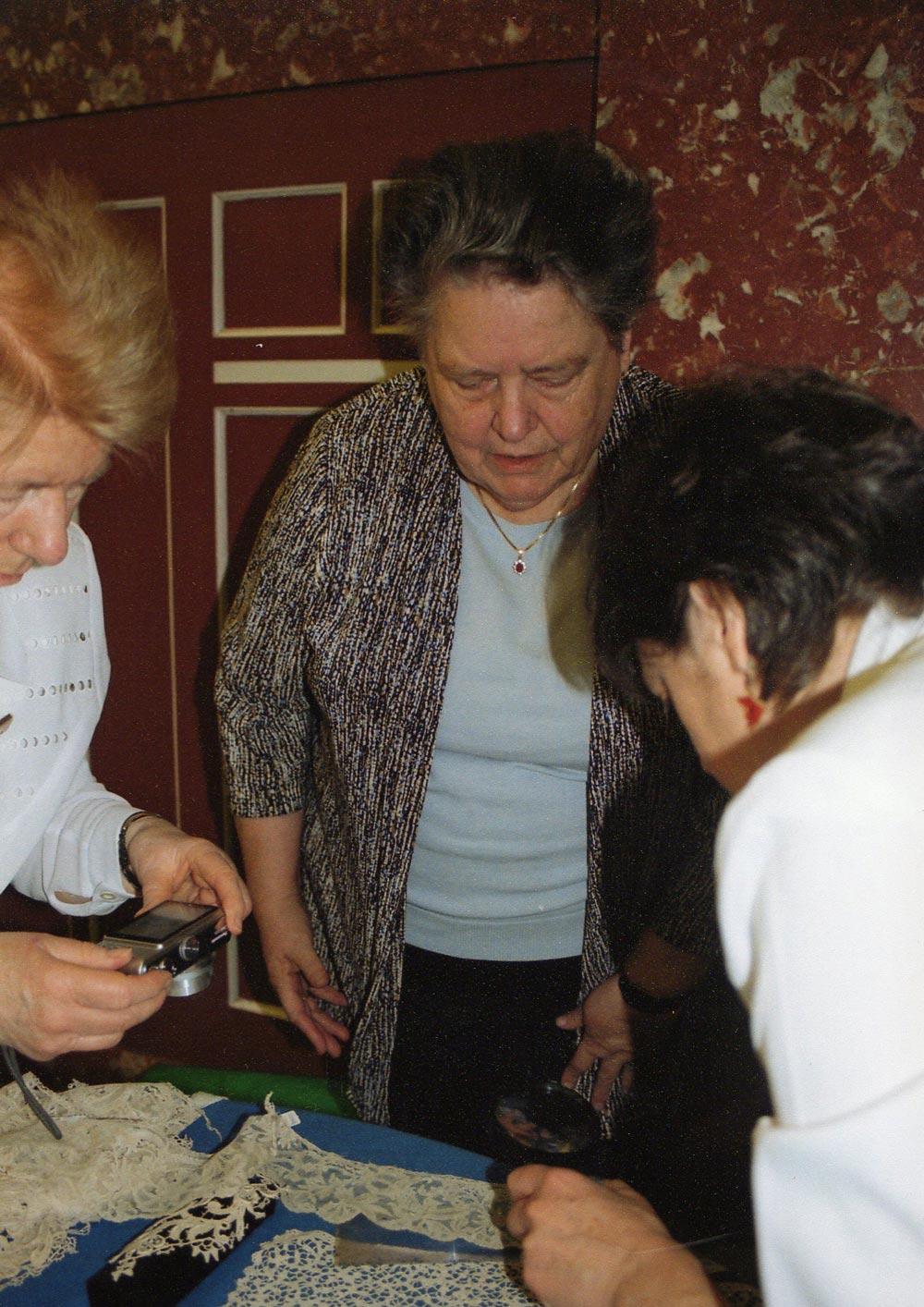 Examining Antique European Lace
