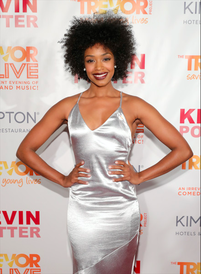 Chantel Riley for red carpet event Trevor Live
