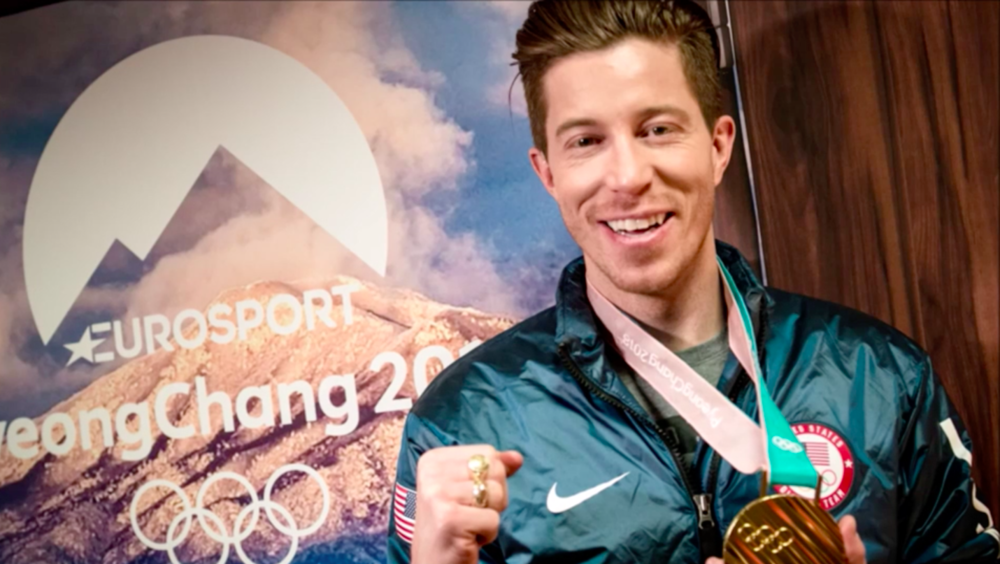 Shaun White for Eurosport Pyeongchang 2018 Winter Olympics in South Korea