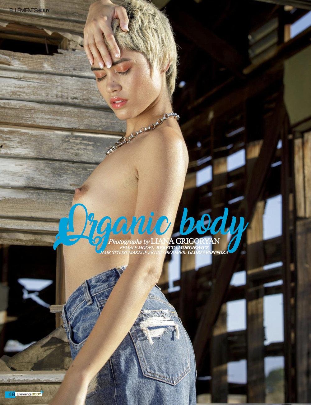 "Ellement Magazine Aug 18': ""Organic Body"" (Hair and Makeup)"