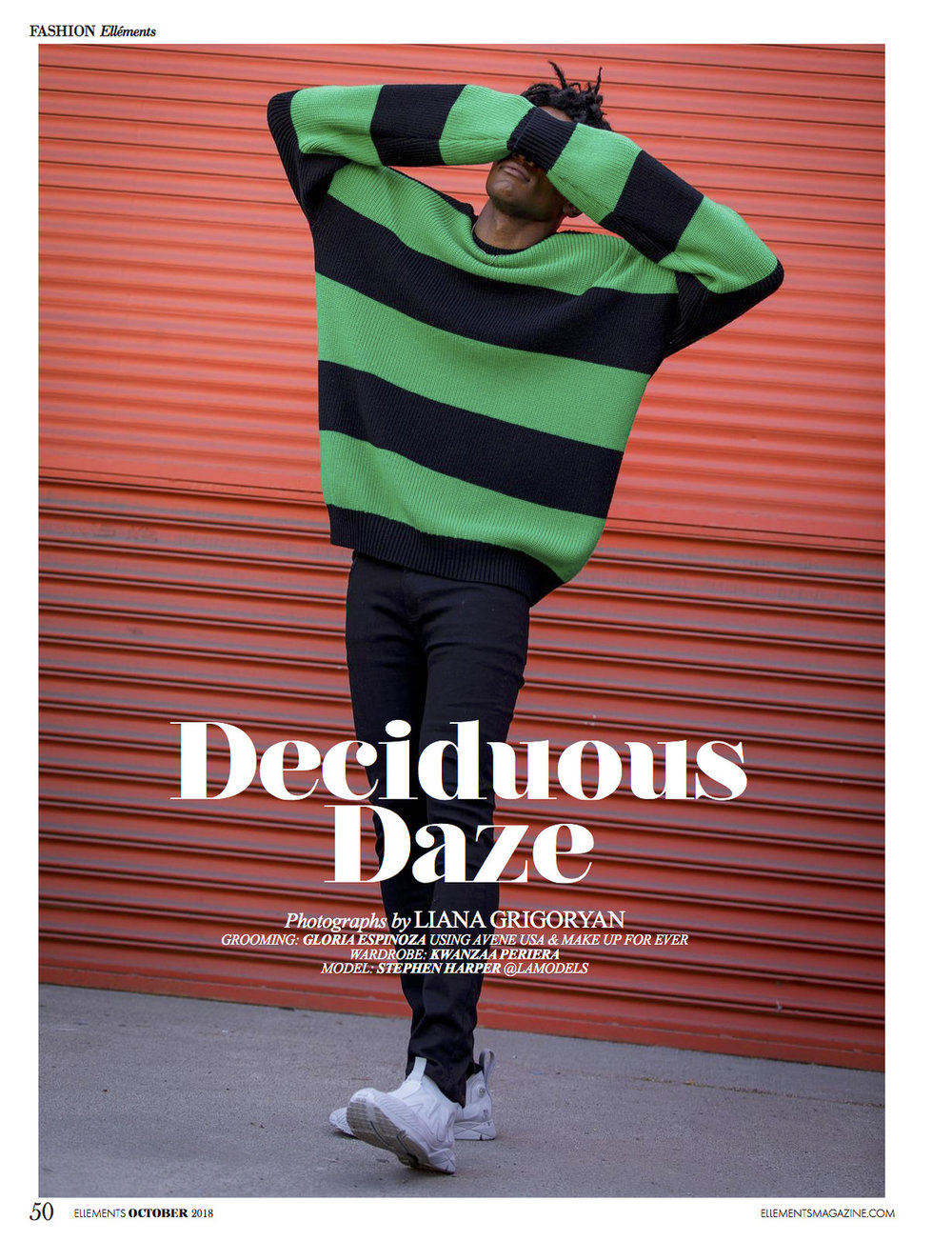 "Ellement Magazine: ""Deciduous Daze"" (Grooming)"