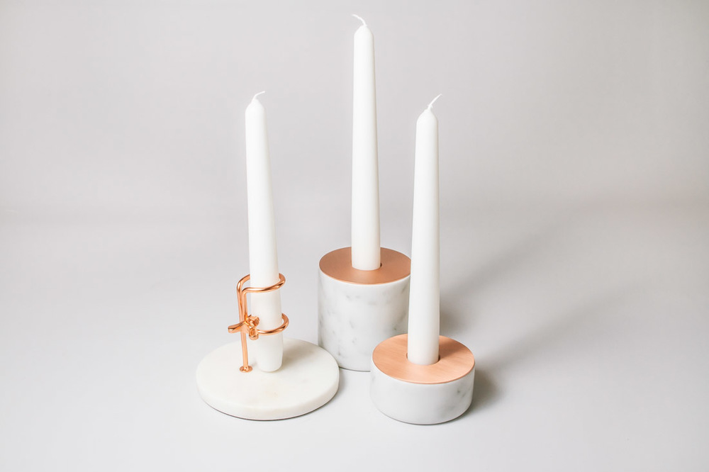 Our copper and marble candle just add that shimmer to any table setting to add a little luxury.