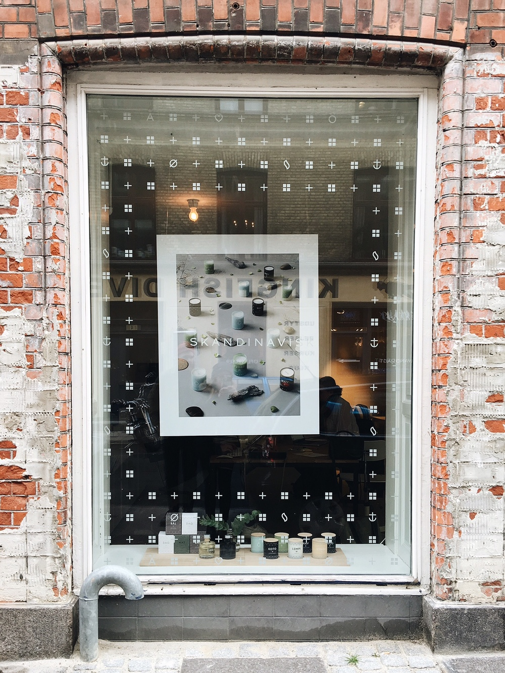 Outside of the showroom in the Vesterbro district.