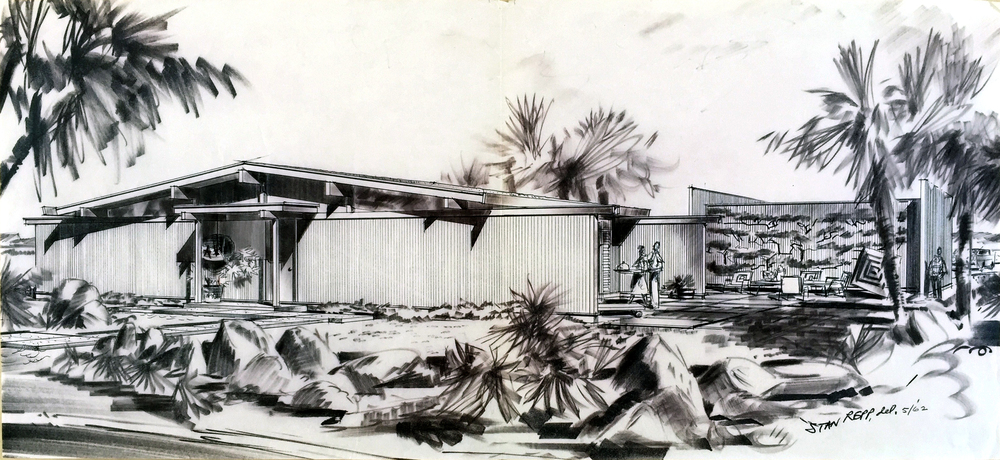 Smith and Williams, Architects and Engineers. House Design, California City. 1961. Architecture and Design Collection, University Art Museum, UCSB.