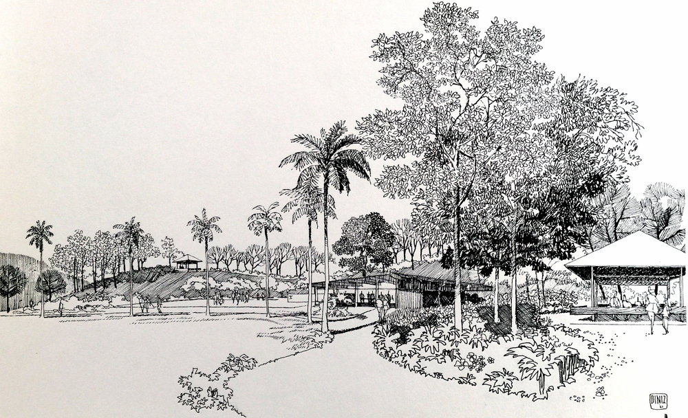 Smith and Williams, Architects and Engineers. Central Park, California City. 1962. Architecture and Design Collection, University Art Museum, UCSB.