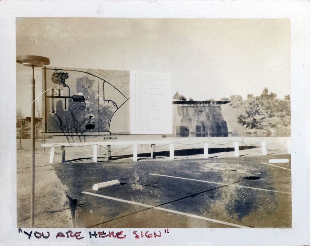 Smith and Williams, Architects and Engineers. You Are Here Sign, California City. 196?. Architecture and Design Collection, University Art Museum, UCSB.