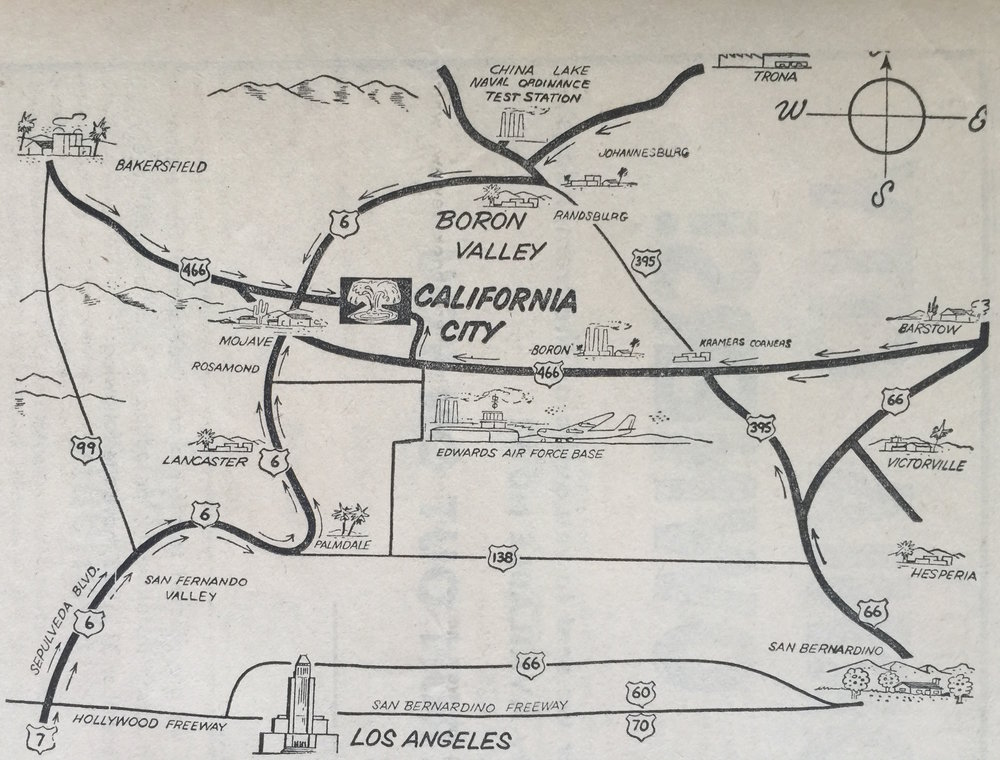California City Map.  California City Sun  5, no. 11 (1963).