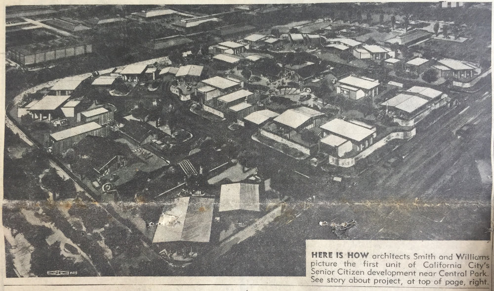 """City's Senior Citizen Subdivision Plans Take Shape,""  California City Sun  5, no. 7 (1962)."