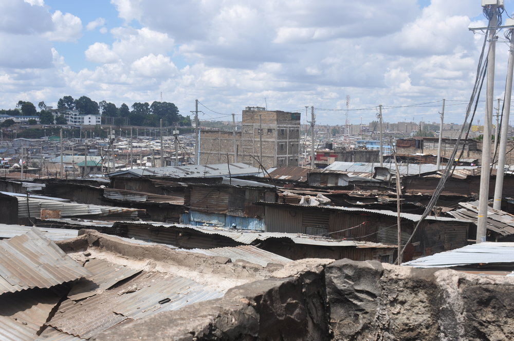 This is Mathare, the giant slum in Nairobi, which is where the students of Mamma Africa come from.