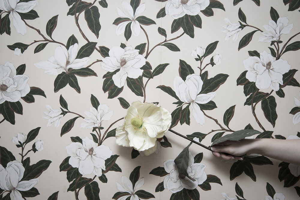 Copy of SARAH MIDKIFF, FLOWERS IN THE WALLPAPER