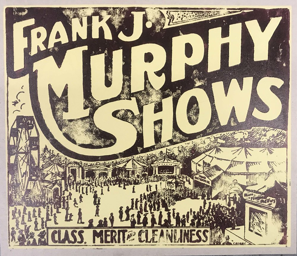Frank J Murphy Shows Circus Advertisment