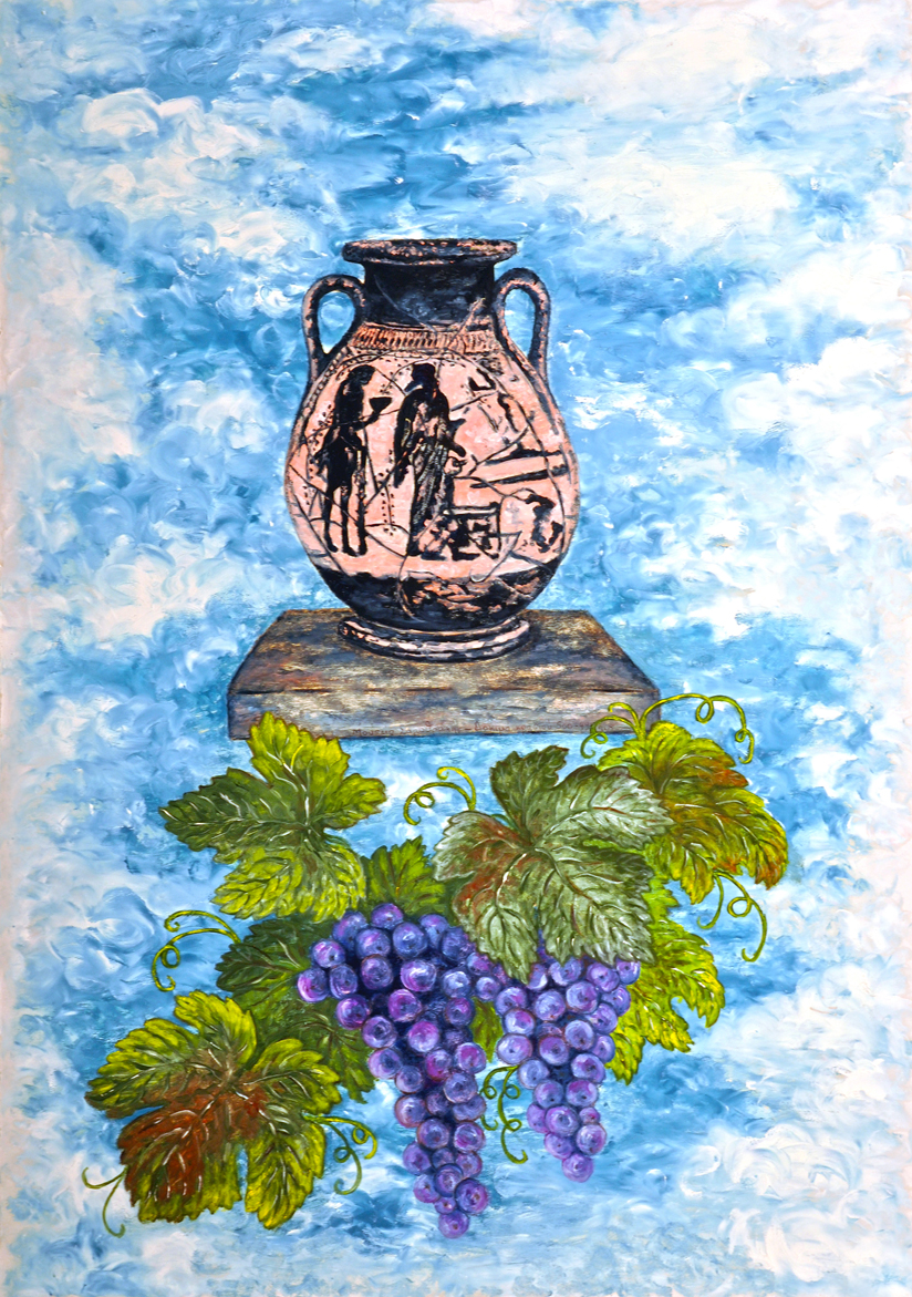 Amphora & Grapes
