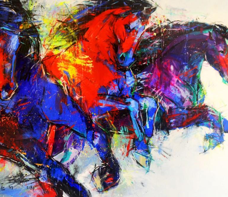 """Riding Colors - 41"""" x 30"""""""