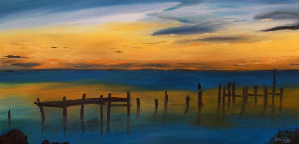 "Chesapeake Sunrise 18"" x 36"""