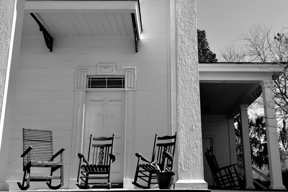 Monticello Porch Landscape