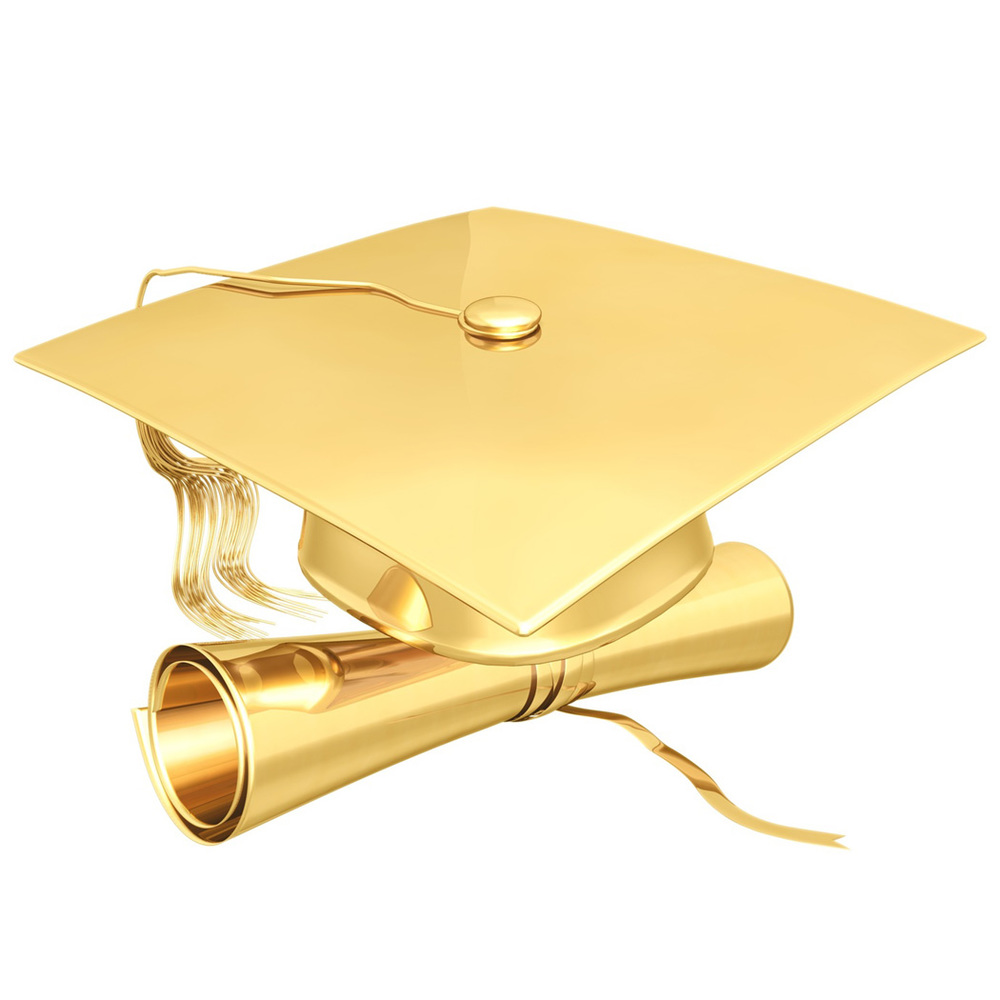 Cap & Diploma in Gold
