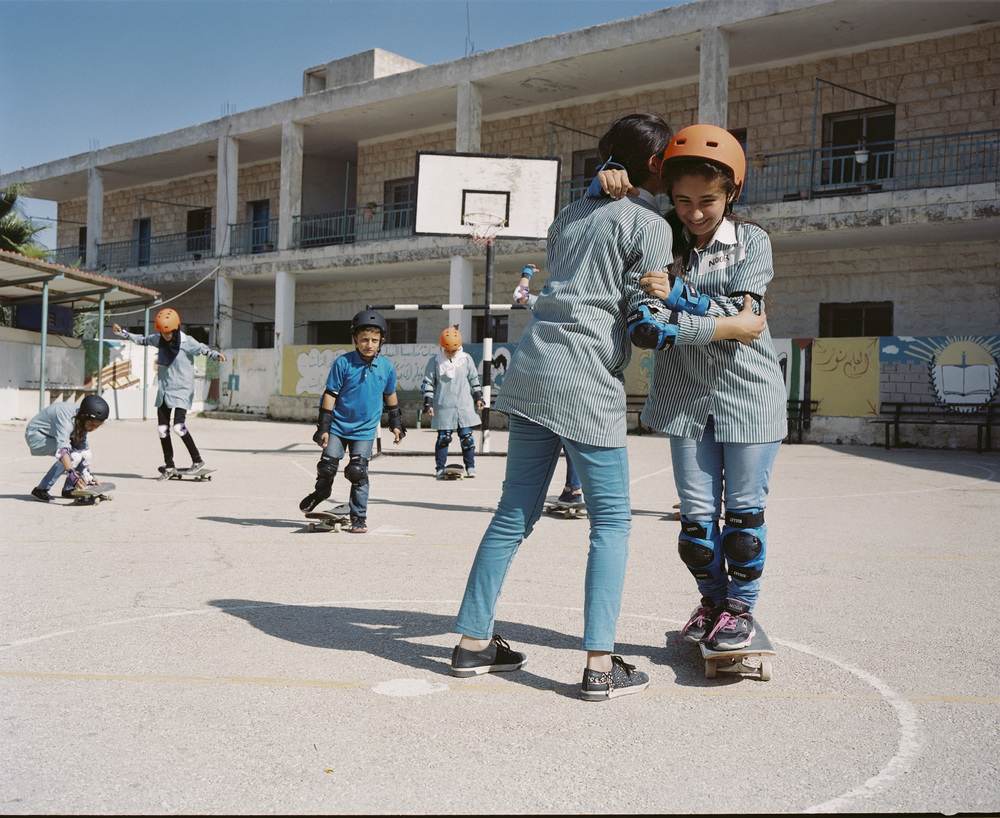 Asira Al-Shamaliya girls school,   2015.  Photo: Christian Nilsen