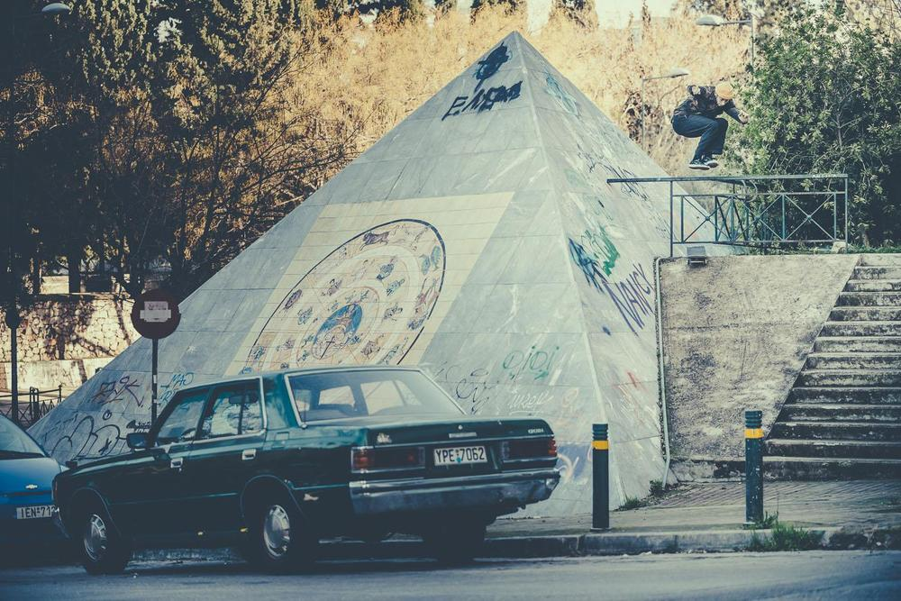 Chris Jones, Hippie Jump in Athens. Photo: Sam Ashley