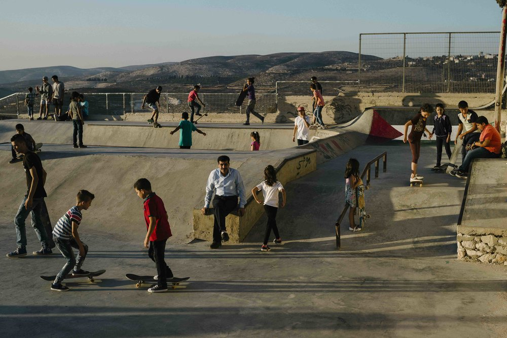 Asira Al-Shamaliya Skatepark. Photo: Sam Ashley