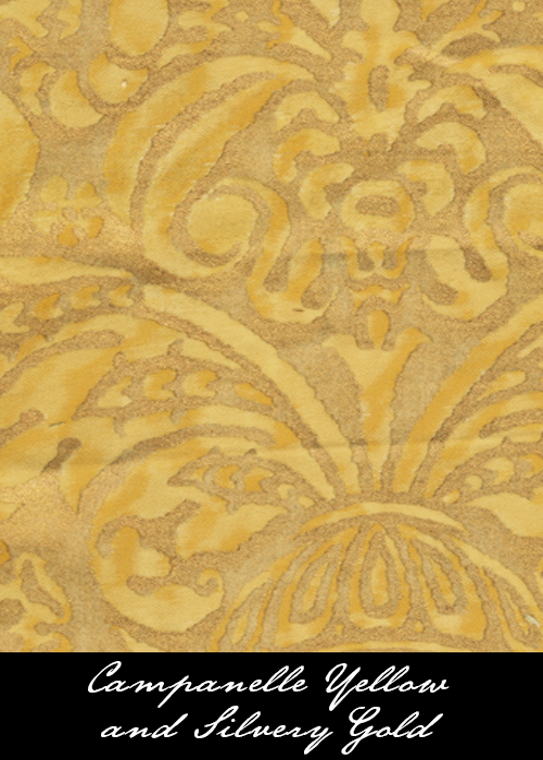 Cuscino classico silvery gold patterned splendor collections fortuny yellow gold2g sisterspd