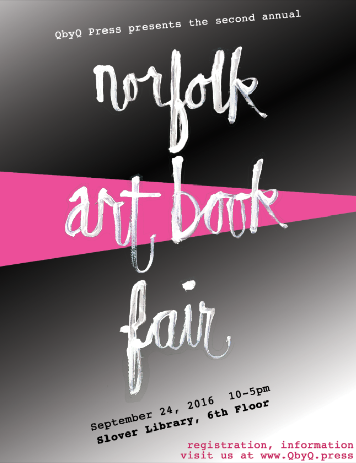 2016 Norfolk Art Book Fair poster