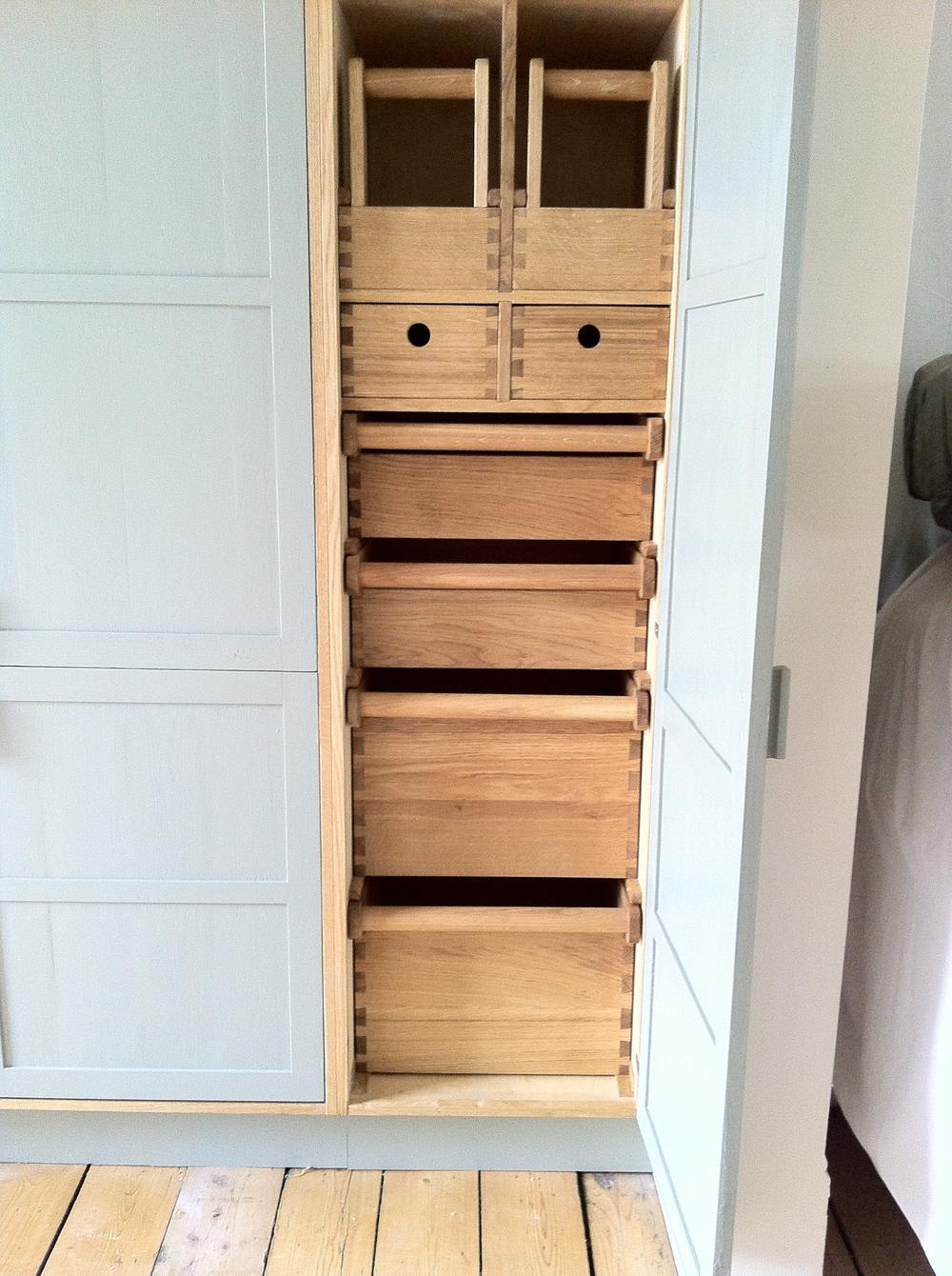 Dovetailed oak larder unit