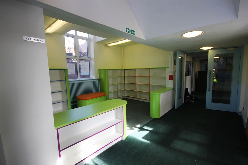 Fitted school library
